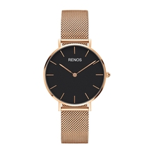 RENOS DW 2017 Quartz Watchwrist Women Rose Gold 36mm Silvery Fashion Stainless Steel Strap Band Watches Gift Female montre Watch
