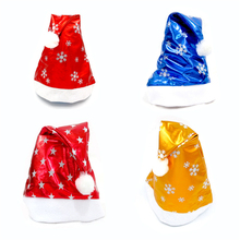 HAOCHU 5Pcs/lot Snowflake Christmas Hats Adult Child Santa Claus Costume Caps Party Festival New Year Decor Market Supplies