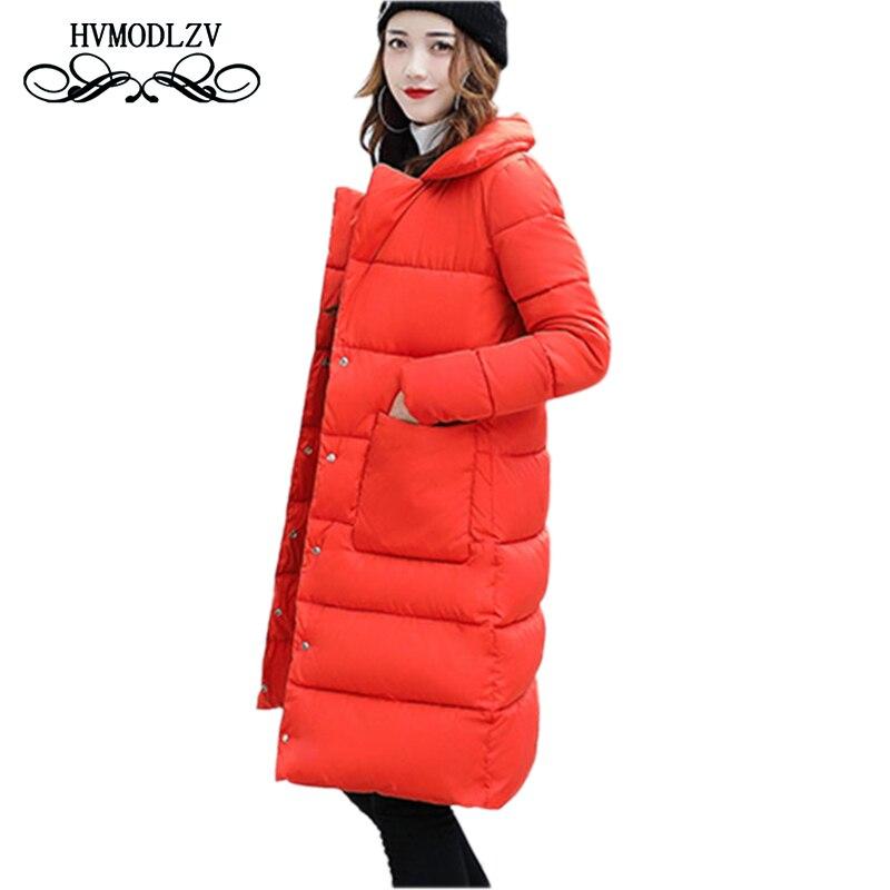 Winter Women Long Cotton Jacket Coat 2017 New Cocoon Style Loose lapel Cotton Jacket Women casaco feminino inverno  ls271Îäåæäà è àêñåññóàðû<br><br>