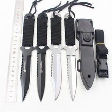 1X Leggings/Paratroopers Knife karamb Stainless Steel Diving Straight knife Outdoor Survival Camping Pocket Tactical Knife