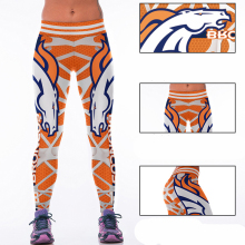 Woman Yoga Pants Fitness Fiber Sports Denver Broncos Leggings Tights American football Trousers Exercise Training Sportswear(China)