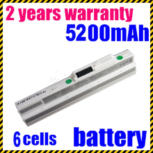 JIGU 4400mah High quality Hot + new Laptop battery for MSI Wind U100 U90 U90X Wind12 u200 BTY-S11 BTY-S12 white +free shipping