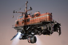 diesel locomotives digital art machine technology drawing steampunk engines 4 Sizes Home Decoration Canvas Poster Print(China)