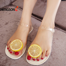 Women 2017 Sandalias Mujer Fruit Flip Flops  Jelly Sandals Shoes Girls Summer Flat Beach Sandals Flip Flops PA858690