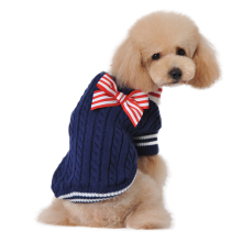 Bow-knot Dog Clothes Sweaters Small Pets Clothing Coats Outfit(China)