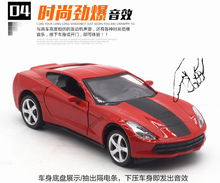 1:36 alloy pull back car models,simulation Chevrolet Corvette,metal diecasts,toy vehicles,free shipping