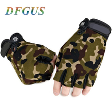 New US Army Tactical Gloves Outdoor Sports Original logo half finger Combat Glove Slip-resistant Carbon Fiber Mittens Gym Gloves
