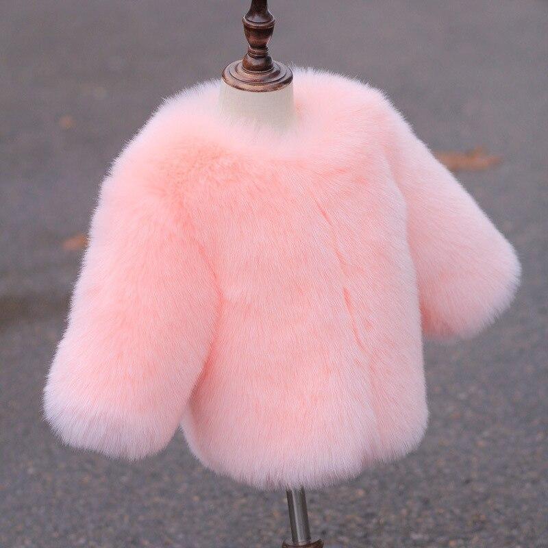 UNINICE Baby Girls Fur Jackets Coats Children Faux Fox Fur Coat Winter Thicken Warm Jackets Fashion Toddler Kids Fur Outerwear<br>
