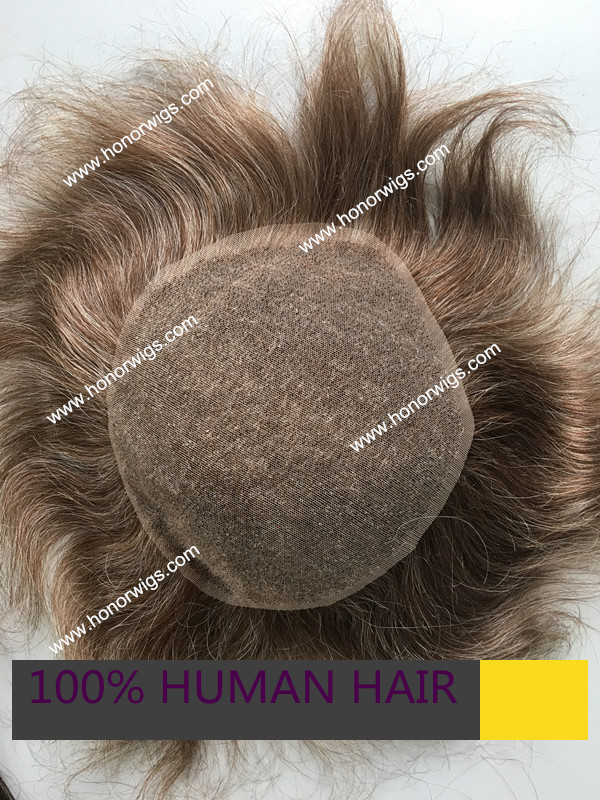 swiss lace base design blond and gray color 6x8 7x9 human Indian remy hair 40% grey color mens toupee custom order HT281<br><br>Aliexpress