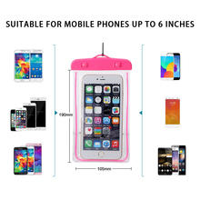 Universal Waterproof Case Mobile Dry Bag TPU Carrying Waterproof Cell Phone Case for iPhone 7/6s for Samsung