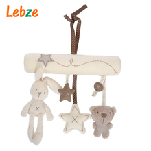 Baby Crib Toys Baby Cot Bed Musical Mobile Soft Plush Rabbit Stroller Hanging Rattle Toy Newborn Gift