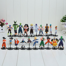20pcs/set Dragon Ball Z GT Action Figures Crazy Party 10CM Cell/Freeza/Goku PVC Dragonball Figures Best Gift