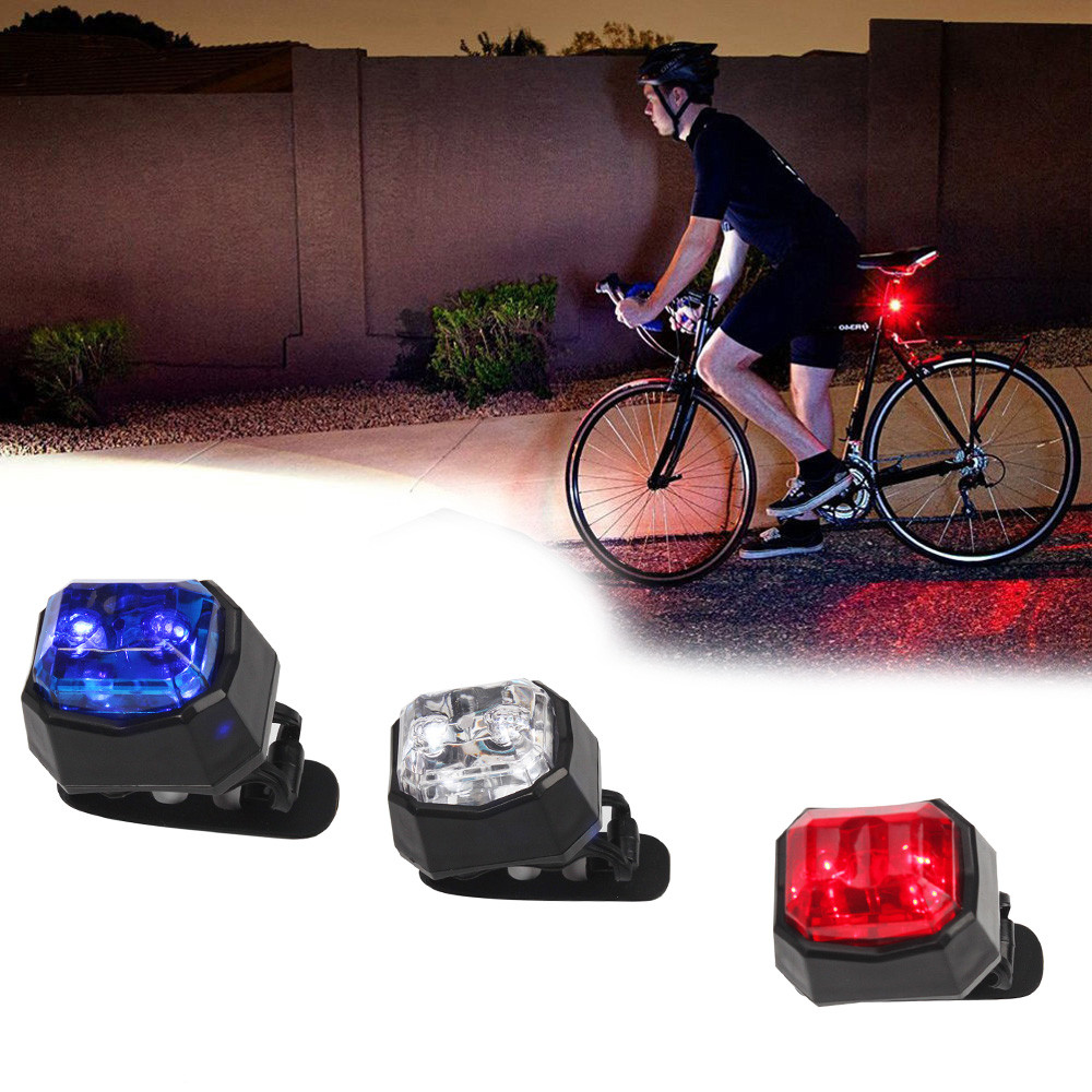 LED Bicycle Bike Light Front Rear Tail Helmet Outdoor Portable Flashlight Lamp