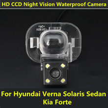 Car CCD LEDs Night Vision Reverse Backup Parking Waterproof Reversing Rear View Camera For Hyundai Verna Solaris Sedan Kia Forte