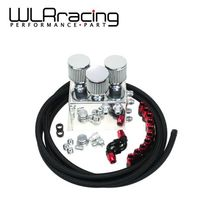 WLRING STORE- Power Driven OIL CATCH TANK CAN / BREATHER TANK RACE KIT FOR Honda Acura VTEC BLACK WLR-TK86BK(China)