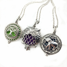 Buy 3pcs Mixed Owl Bird Tree Elephent Copper Antique Silver Locket Aroma Essential Oil Diffuser Trendy Pendant Necklace Jewelry Gift for $7.02 in AliExpress store