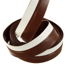 MTGATHER Slicone Rubber 25mm Width Silicone Rubber Bottom Door Window 2M Adhesive Seal Strip Weatherstrip Brown Best Price(China)