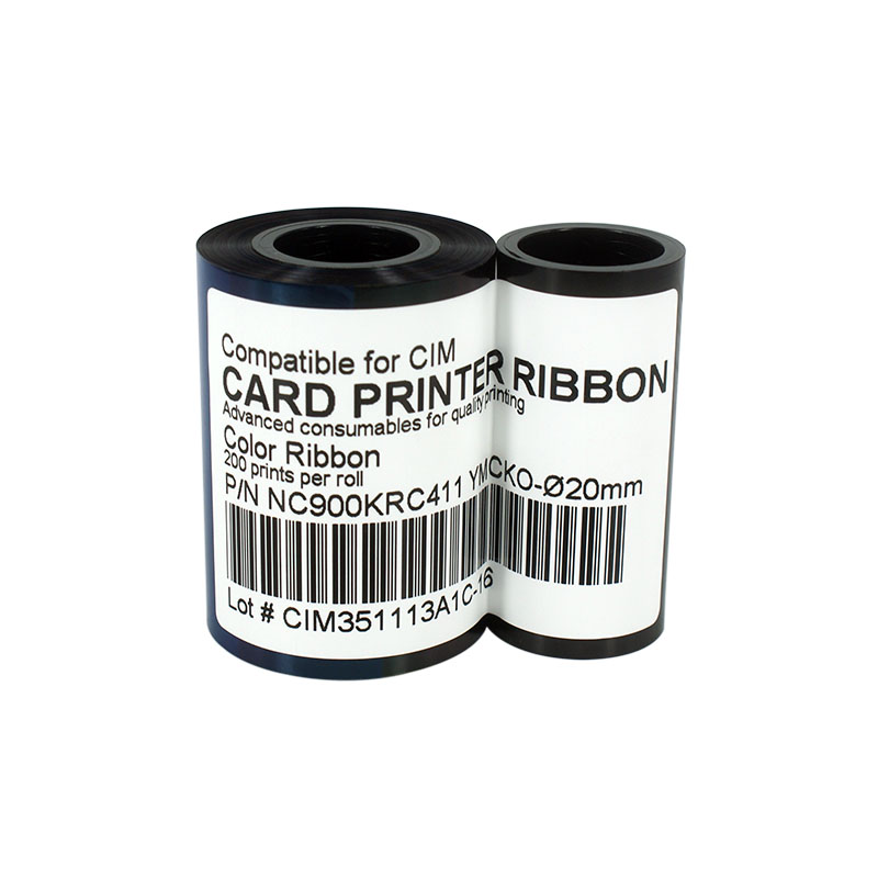 Printer Ribbon NC900KRC411 Color Ribbon 200prints/roll for CIM K300C K400C (Ribbon Core:20mm/22mm)<br>
