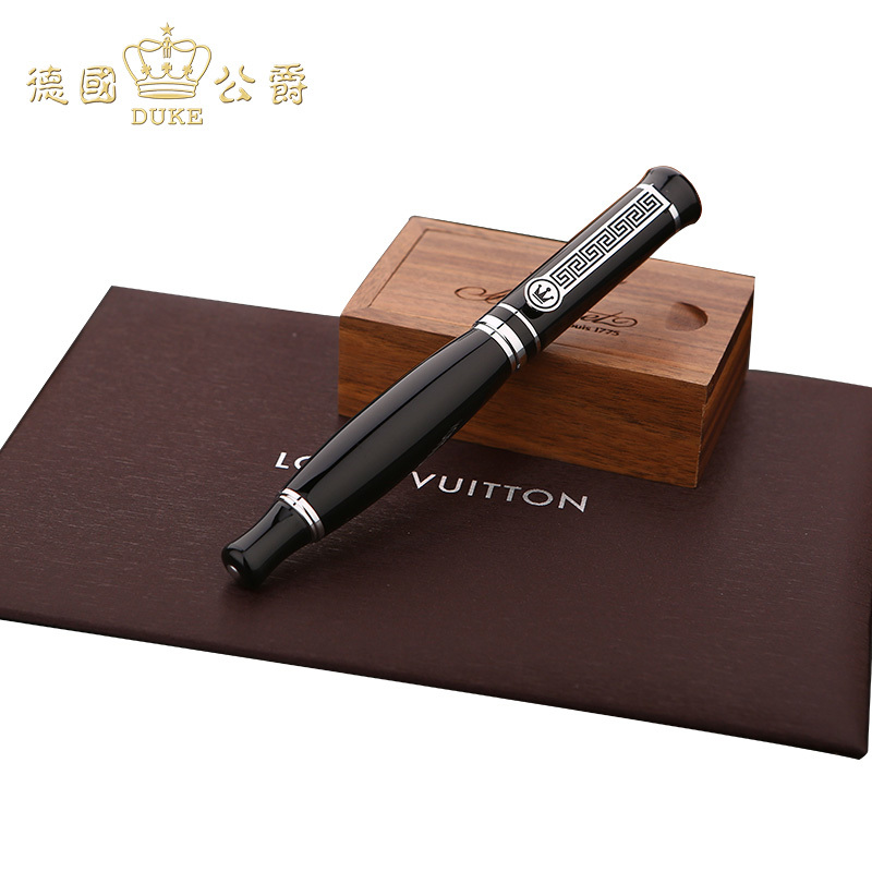 Germany DUKE Pure Black Silver Clip Iraurita Heavy Arrogance Ink pen Free Of Charge Lettering Postal Exquisite gift Package<br>