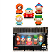 1 Set Retail 5 pcs/set Anime Cartoon PVC South Park Figure Mini Display Action Figure Toys Dolls With Box Package Free Shipping(China)