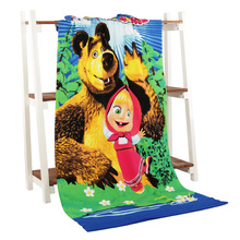 Microfiber towel printing activity beach towel hair super soft water 70*140 cm 18style(China)