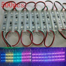 FREE DHL 500pcs Korea chip Magic color 1903 IC 5050 RGB Digital DMX LED Module light,DC12V advertising/windows light(China)
