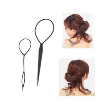 1 PCS/Set Portable Disk Hair Wear Hair Sticks Two Sets Braiders hairstyle Styling Tools(China)