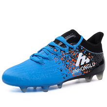 2016 Soccer Shoes Cleats Gray/Blue Athletics Spikes Shoes New Arrival Men Soccer Shoes Damping Mens Football Trainers