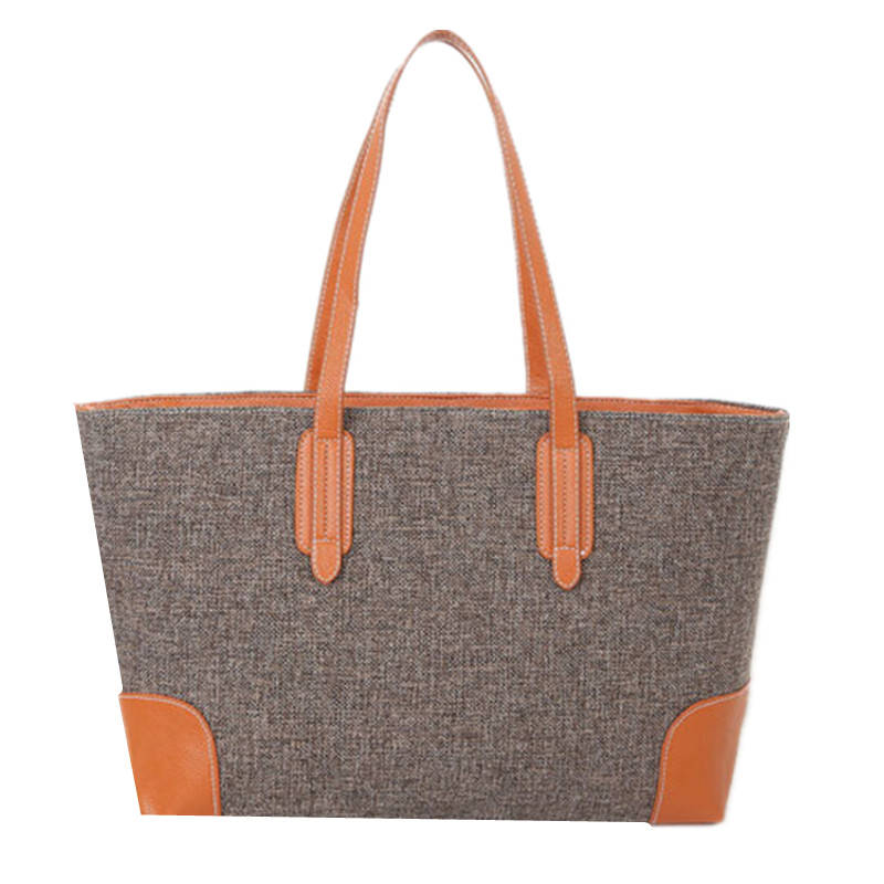 BARHEE Fashion Linen Women Handbag Ladies Tote Shoulder Bags Simple Casual Shopping Bag Large Capacity Fabric bolsa feminina<br><br>Aliexpress