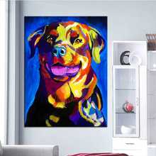 Large size Print Oil Painting rottweiler starr Wall painting Home Decorative Wall Art Picture For Living Room painting No Frame