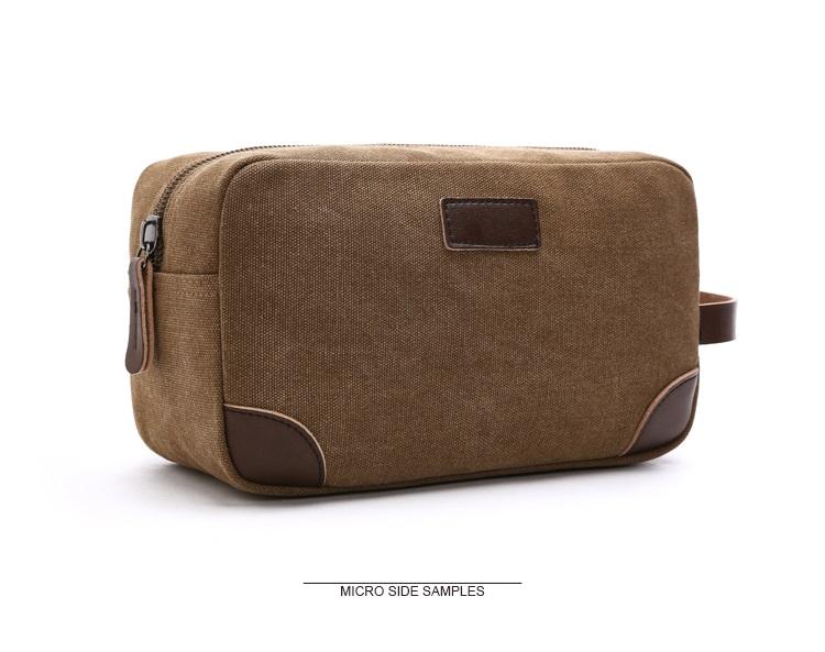 Canvas Travel Bag Toiletry Organizer Shaving Dopp Kit Travel Cosmetic Bag Makeup Men Handbag Casual Zipper Wash Cases Women 7