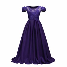 7-15Y Teenager Vestido Lace Flower Girl Dresses Princess Pageant Wedding Bridesmaid Birthday Party Dress Ball Gown  dresses