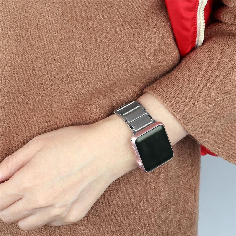 Luxury stainless steel watch band for apple series 1 2 3 watch strap 38-42 mm reloj hombre marca de lujo heren horlogewatcha bracelet (11)