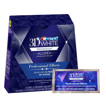 Original Crest 3D whitestrips LUXE Professional Effects Teeth Whitening Dental Oral Hygiene (1Box/40Strips 20 Pouches)