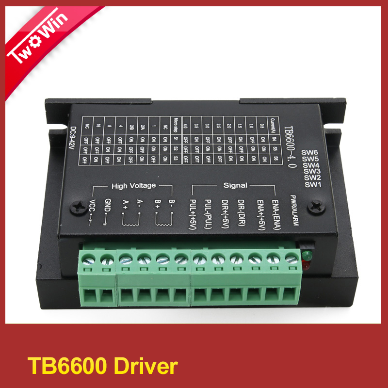 tb6600 42/57/86 nema17,nema 23 nema 34 stepper motor driver 4.5A 40V 1 axis stepping motor cnc engraving machine<br><br>Aliexpress