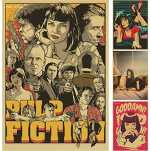 Pulp Fiction Posters Vintage Paper Retro anime poster poster Vintage Home Wall sticker Decor Quentin Tarantino