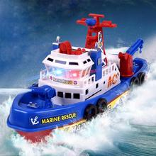 Baby Electric Marine Rescue Fire Boat Toys Sprinkler Water Rescue Spray Ship Flashing Music Boat Model for Children Toys Gift(China)