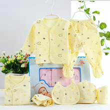 Newborns Baby Clothing Sets girls boys 7pcs Cotton  0-3 Month Clothing Cartoon Underwear Cheap Baby Clothes Birthday Gift