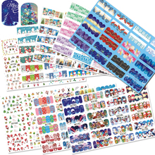 1 Set Winter New Year Designs Colorful Glitter Christmas/Xmas Sticker for Nail Decorations Tips Watermark Tree/Snow CH298(China)
