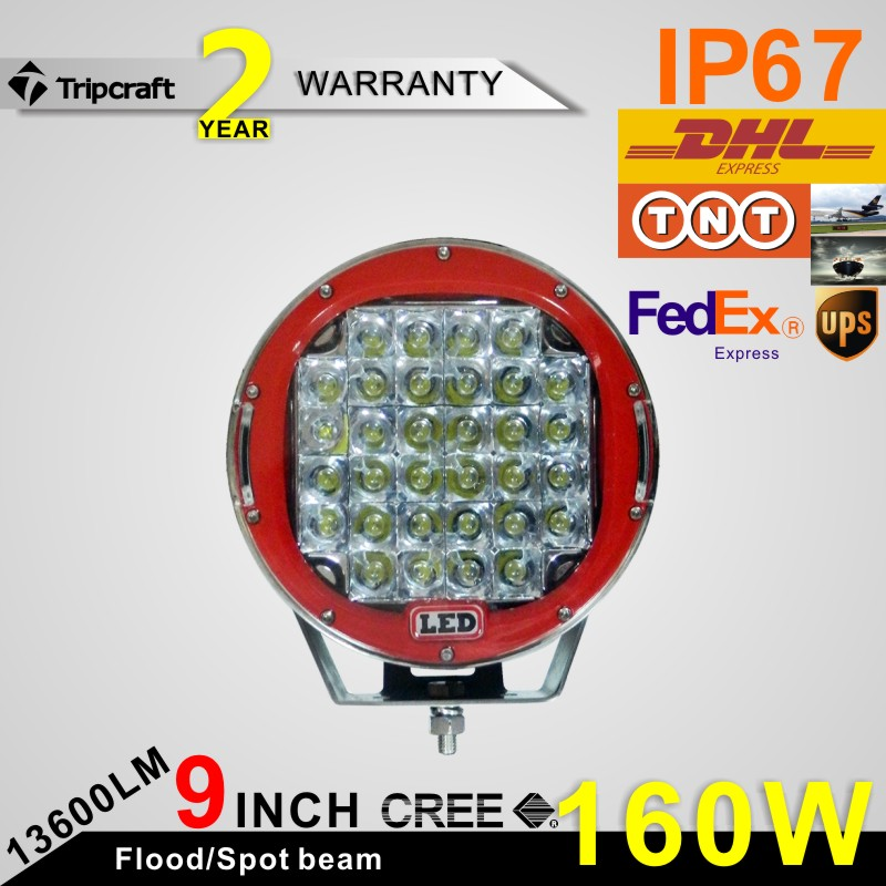 NEW 9INCH 160W LED WOKR Light HIGH POWER  SPOT FLOOD FOG LAMP FOR OFFROAD  4WD ATV SUV USE TRACTOR DRIVING LIGHT<br><br>Aliexpress