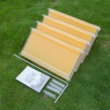 4 Pieces Honey Outflow Plastic Bee Hive Frames/Honey flow bee hive frame(China)