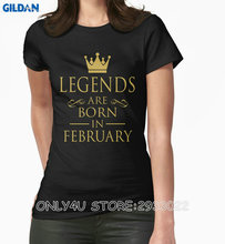 Gildan Only4U 2017 Latest T Shirt Fashion Women'S Legends Are Born In February Christmas Womens Shirt