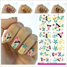 2017 Promotion New Nail Sticker Fashion Nail Art Stickers Cartoon Dolls And Colored Decals Decorative Plant Design Tool