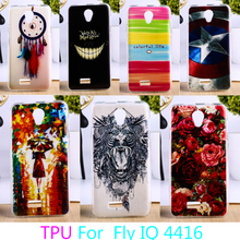 AKABEILA Soft TPU Phone Cases For fly iq4416 iq 4416 era life 5 life5 Case Colorful Back Cover Durable Shell Housing Sheaths(China)