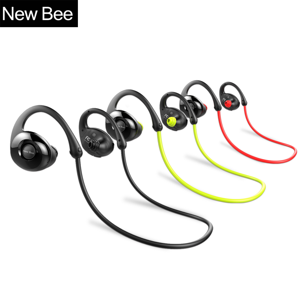 New bee Wireless Bluetooth Earphone Stereo Headphones Sport Headset HiFi Sound IPX4 sweatproof earphones for iphone ipad android<br>