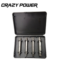 Crazy Power 4PCS/Set Double Side Damaged Screw Extractor Drill Bits Out Remover Bolt Stud Tool