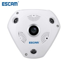 HD 960P Security 360Degree Panoramic WIFI Fisheye IP camera Security CCTV ONVIF motion detection Support TF card QP180 ESCAM
