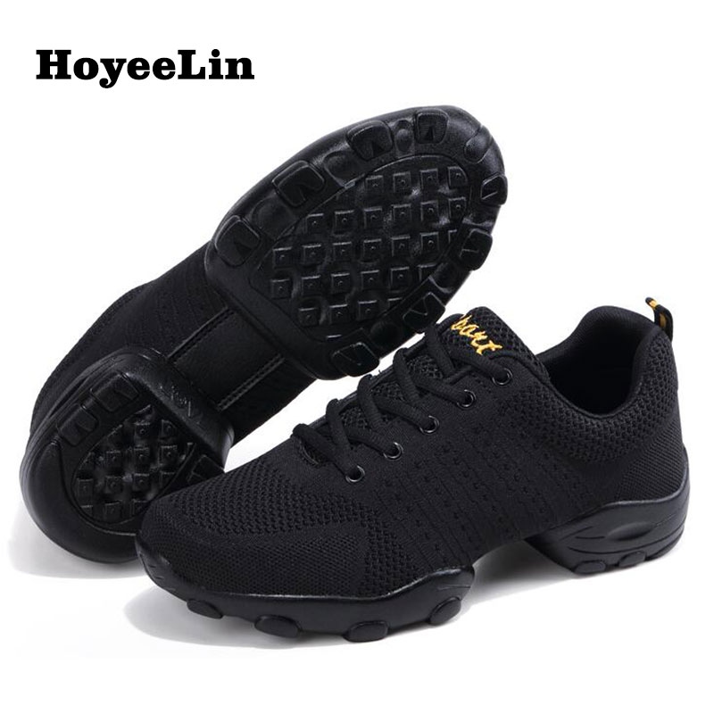 Breathable Mesh Dance Sneakers Men/'s Modern Jazz Dance Shoes Fitness Trainers