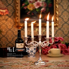 Metal Candle Holder 5-arms Candle Stand Wedding Candlestick Candelabra