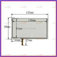 063020 New 6.4inch TOUCH Screen panels 155mm*89mm for GPS  155*89  Freeshipping used clarion GPS CAR